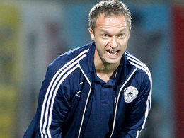 U-16-Trainer Christian Wück verpasste mit seinem Team das Turnierfinale.