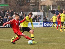 Schwarz-Gelb hatte die Nase vorne: Die Dortmunder setzten sich beim U-19-Turnier in Düsseldorf gegen den FC Bayern durch.