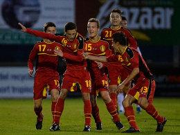 Klare Sache: Die belgischen Youngster schießen die DFB-Elf ab.