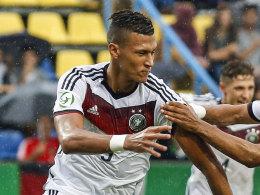 Davie Selke traf für die deutsche U19 gegen die Ukraine doppelt.