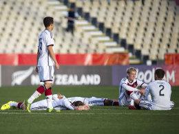Niedergeschlagenheit bei der deutschen U 20