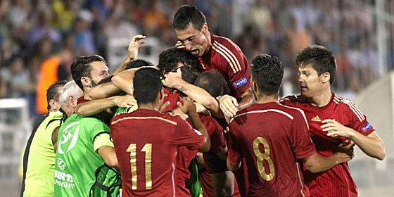 Rote Jubeltraube: Spanien kr�nte sich zum siebten Mal zum U-19-Europameister.