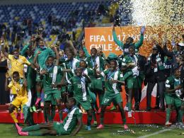So sehen Sieger aus: Nigeria ist U-17-Weltmeister.