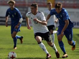 Philipp trifft doppelt: U 18 gewinnt gegen Italien