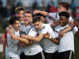 Deutsche U 18 dreht Partie in Österreich