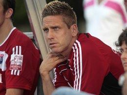 Muss sich mit der Zuschauerrolle begnügen: Hachings Torben Hoffmann ist für zwei Spiele gesperrt worden.