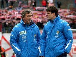 Trainer Gerd Schädlich und Jörg Emmerich (re.)
