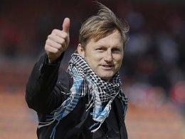 Daumen hoch: VfR-Coach Ralph Hasenhüttl blickt optimistisch in die neue Saison.