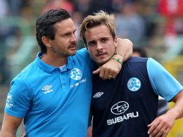 Dirk Schuster (li.) und Sandrino Braun