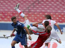 Szene aus dem Spiel VfB II gegen Karlsruhe