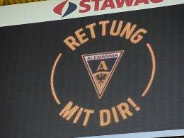 Rettung mit dir: Auch der FC Bayern München greift den insolventen Aachenern in Form eines Benefizspiels unter die Arme.
