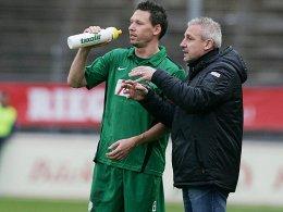 Stefan Kühne (li.) und Pavel Dotchev