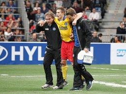 Sebastian Schiek verletzte sich am Knie