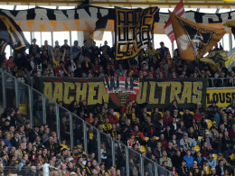 """Zukünftig nicht mehr im Stadion: die """"Aachen Ultras""""."""