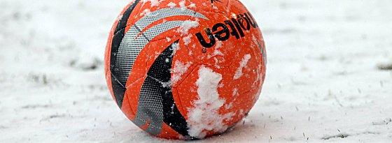 Schnee und kein Ende: Am Samstag musste die dritte Drittligapartie des Spieltags abgesagt werden.