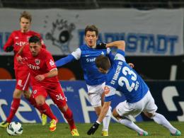 Burak Kaplan (li.) gegen Darmstadt 98
