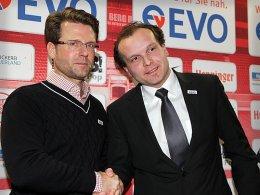 Trainer Rico Schmitt (li.) und Geschäftsführer David Fischer