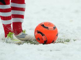 In Halle liegt Schnee