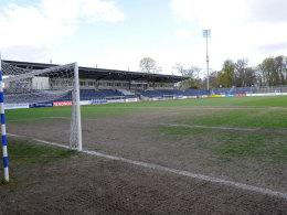 Weiterhin nicht bespielbar: Der Platz im Babelsberger Karl-Liebknecht-Stadion.