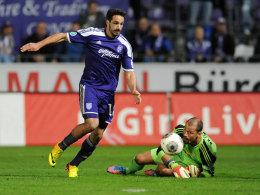 Der zweite Streich: Adriano Grimaldi auf dem Weg zum 2:2.