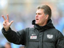 Wünscht sich drei Punkte im Abstiegsduell gegen die Kickers: Preußen Münsters Trainer Ralf Loose.