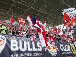 Fans von RasenBallsport Leipzig beim 1:0-Sieg gegen Darmstadt