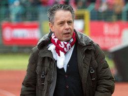 """""""Wir werden kämpfen, aber es wird schwer"""", so Erfurts Präsident Rolf Rombach in Bezug auf die Lizenzprobleme."""