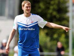 Führungsposition bei Hansa Rostock: Christian Stuff gibt den neuen Kollegen sofort die Richtung vor.
