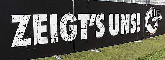 """""""Zeigt's uns"""" - der Slogan der 3. Liga"""