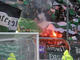Einer von drei Fällen: Auch wegen Pyrotechnik im Fanblock bat der DFB Preußen Münster zur Kasse.
