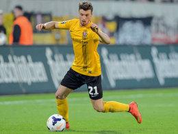 Nach Verletzung wieder zurück: Dresdens Quirin Moll feierte im Heimspiel gegen die Stuttgarter Kickers sein Comeback.
