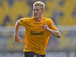 Wird mehrere Wochen fehlen: Dresdens Mittelfeldspieler Robin Flu�.