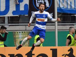 Konnte in dieser Spielzeit bereits zehn Mal jubeln: Duisburgs Stürmer Zlatko Janjic hat große Ziele.