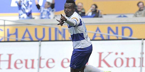 An beiden Duisburger Toren beteiligt: Kingsley Onuegbu.