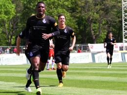 14. Saisontreffer! Kingsley Onuegbu brachte den MSV Duisburg auf die Siegerstraße.