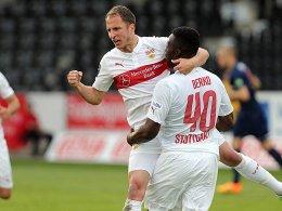 Wichtige Punkte gegen den Abstieg: Stuttgart II ringt Hansa Rostock nieder.