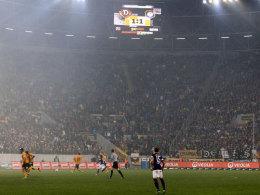 Heiße Duelle der sächsischen Rivalen: Dynamo gegen FC Erzgebirge im November 2013.
