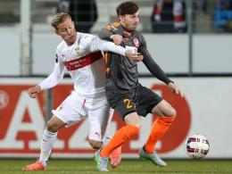 Schoss Rot-Weiß Erfurt in Front: Carsten Kammlott (r.).