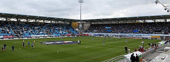 Hier geht es am 24. März um wichtige Drittliga-Punkte: das Stadion an der Gellertstraße in Chemnitz.