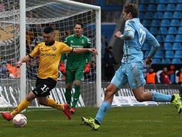 Dynamo Dresden musste beim 2:2 in Chemnitz die Punkte teilen.
