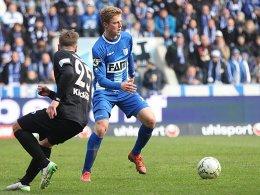 Magdeburgs Youngster Sebastian Ernst traf zur Führung gegen die Stuttgarter Kickers.