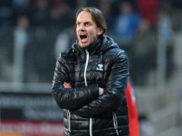 Sah eine kämpferische Leistung seines Teams: Großaspachs Trainer Rüdiger Rehm.