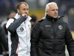 Christian Gmünder wird Trainer Peter Vollmann (re.) nicht mehr an der Seitenlinie assistieren.