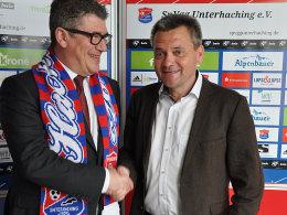 Unterhaching stellt neuen Hauptsponsor vor