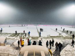 Schneefall: Jenas Heimspiel gegen Würzburg abgesagt