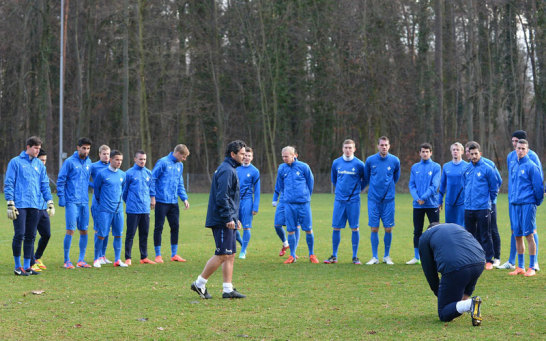 Darmstadt beim Training