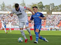 0:0 - KSC verpasst gegen Hansa den Sprung auf Rang drei