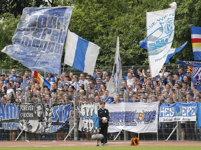 Gästekurve des SV Meppen
