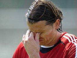 Weil er die Geburt seines Kindes miterleben wollte, blieb er in München und verletzte sich dann bei den Amateuren: Daniel van Buyten.