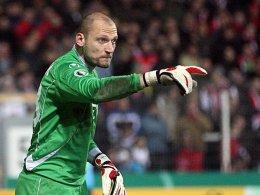 Gleich im ersten Spiel nach seiner Verletzung wieder ein wichtiger Rückhalt für die Kickers: Offenbach-Keeper Robert Wulnikowski.